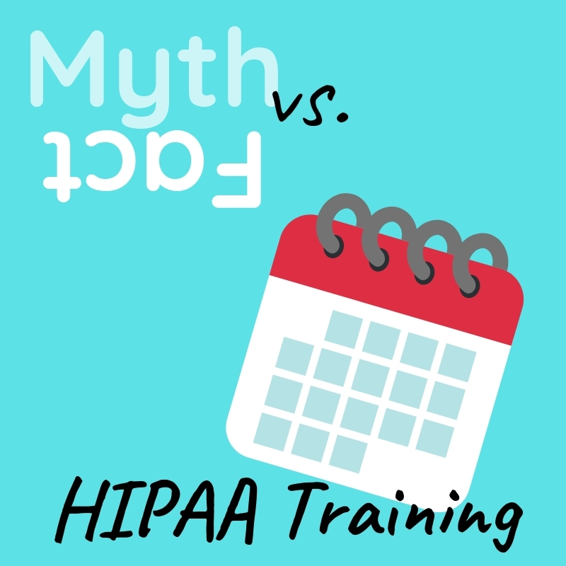 Graphic saying HIPAA Training with an image of a calendar