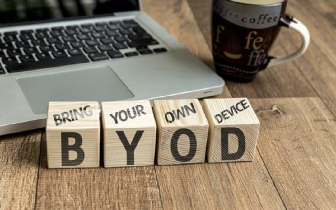Wooden blocks spelling BYOD, or Bring Your Own Device