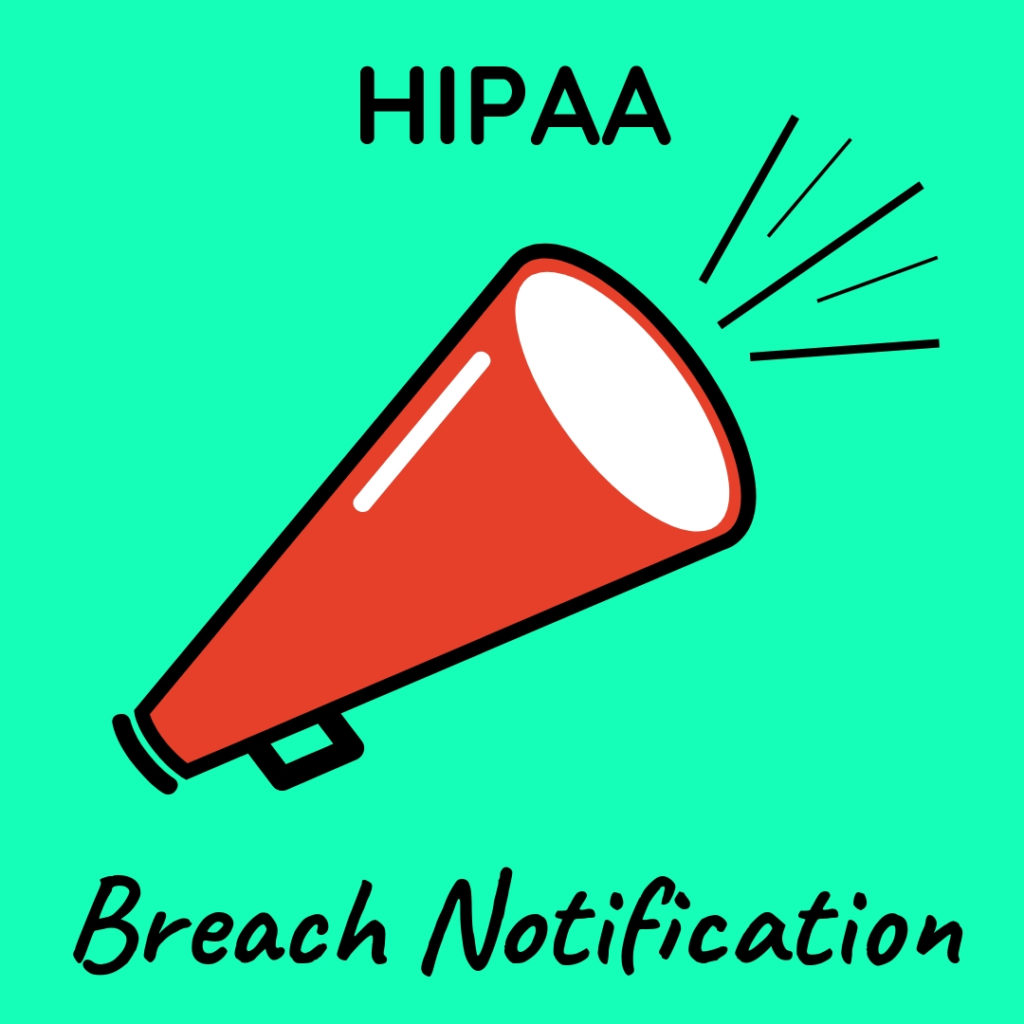 Graphic that says Breach Notification with an image of a megaphone