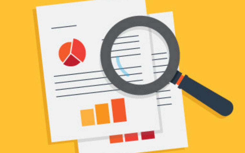 Graphic that says How to Due Diligence, with an image of a magnifying glass over documents