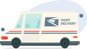 Graphic of a U.S. Postal Service truck
