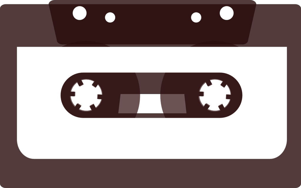 Graphic of a cassette tape