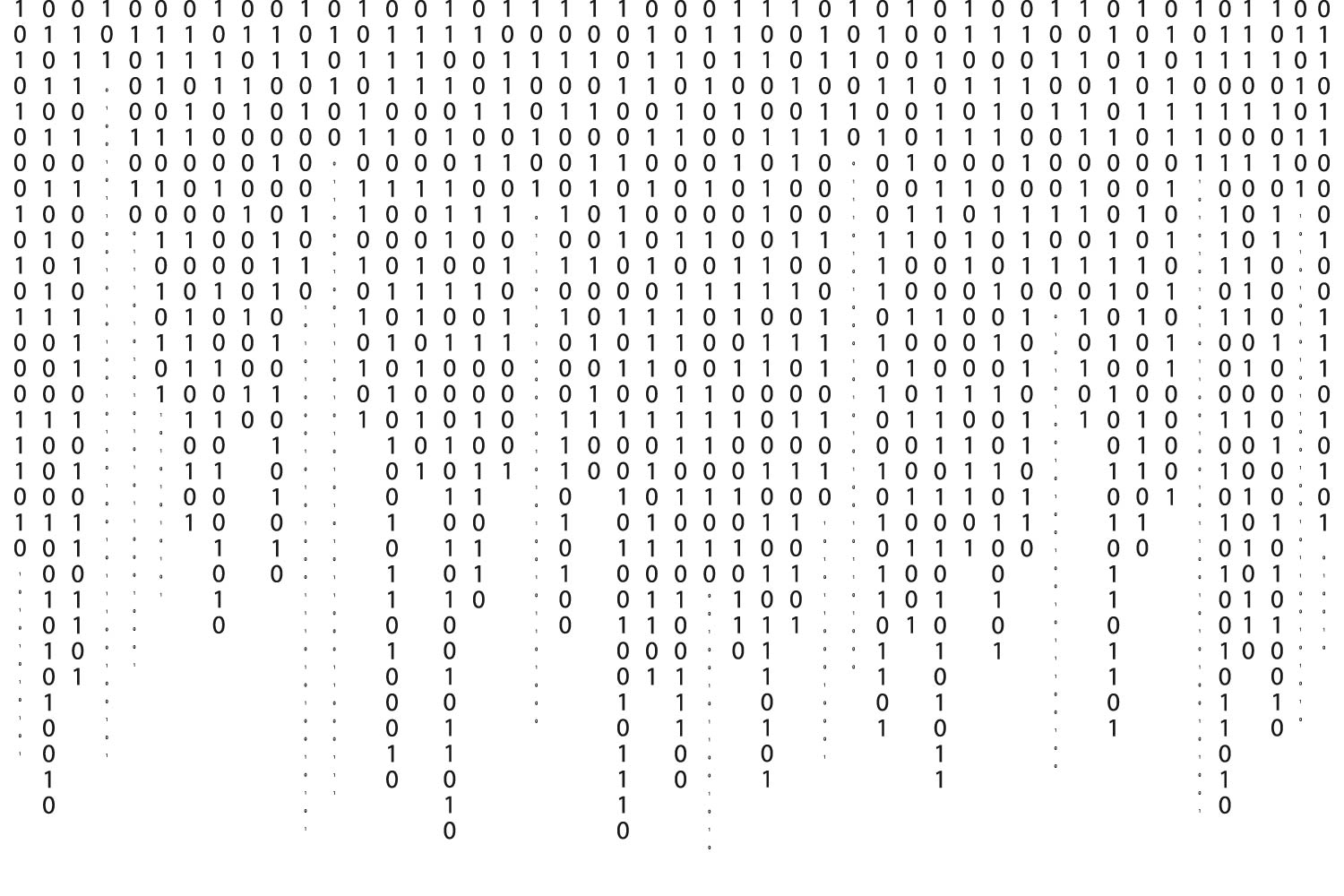 Graphic of binary code