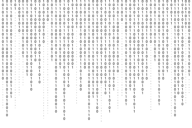 Graphic of binary code