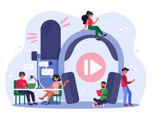 HIPAA Podcast Vector Illustration