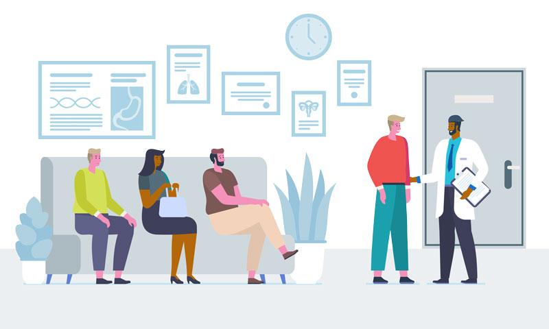 Hipaa for clinics vector