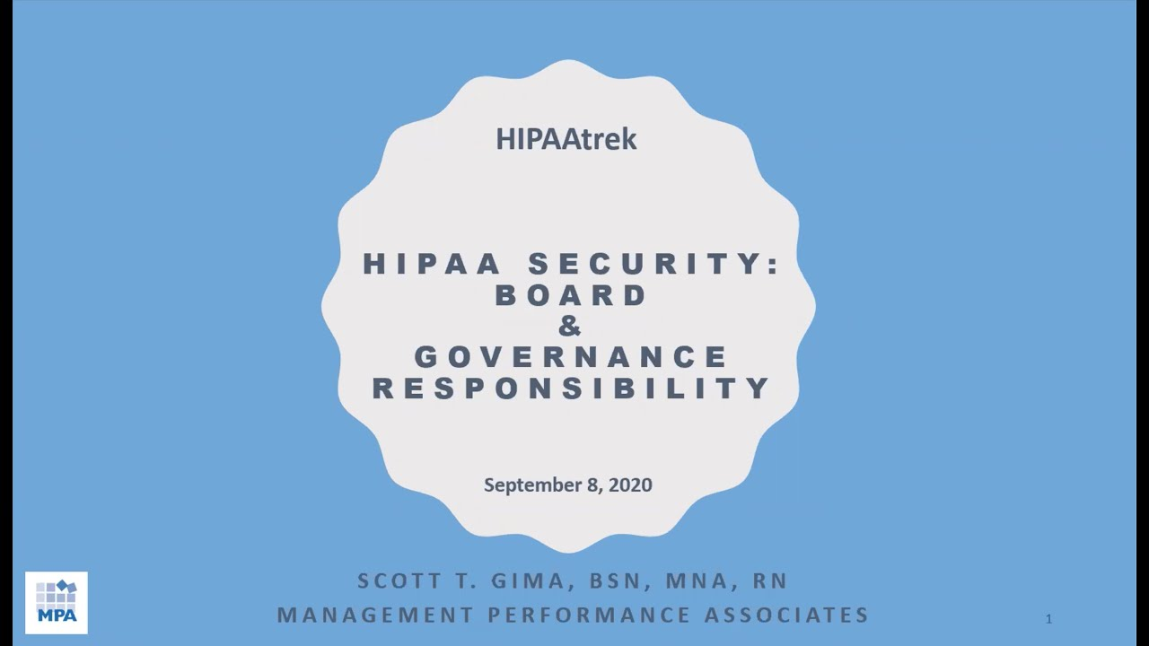 HIPAA Security Board