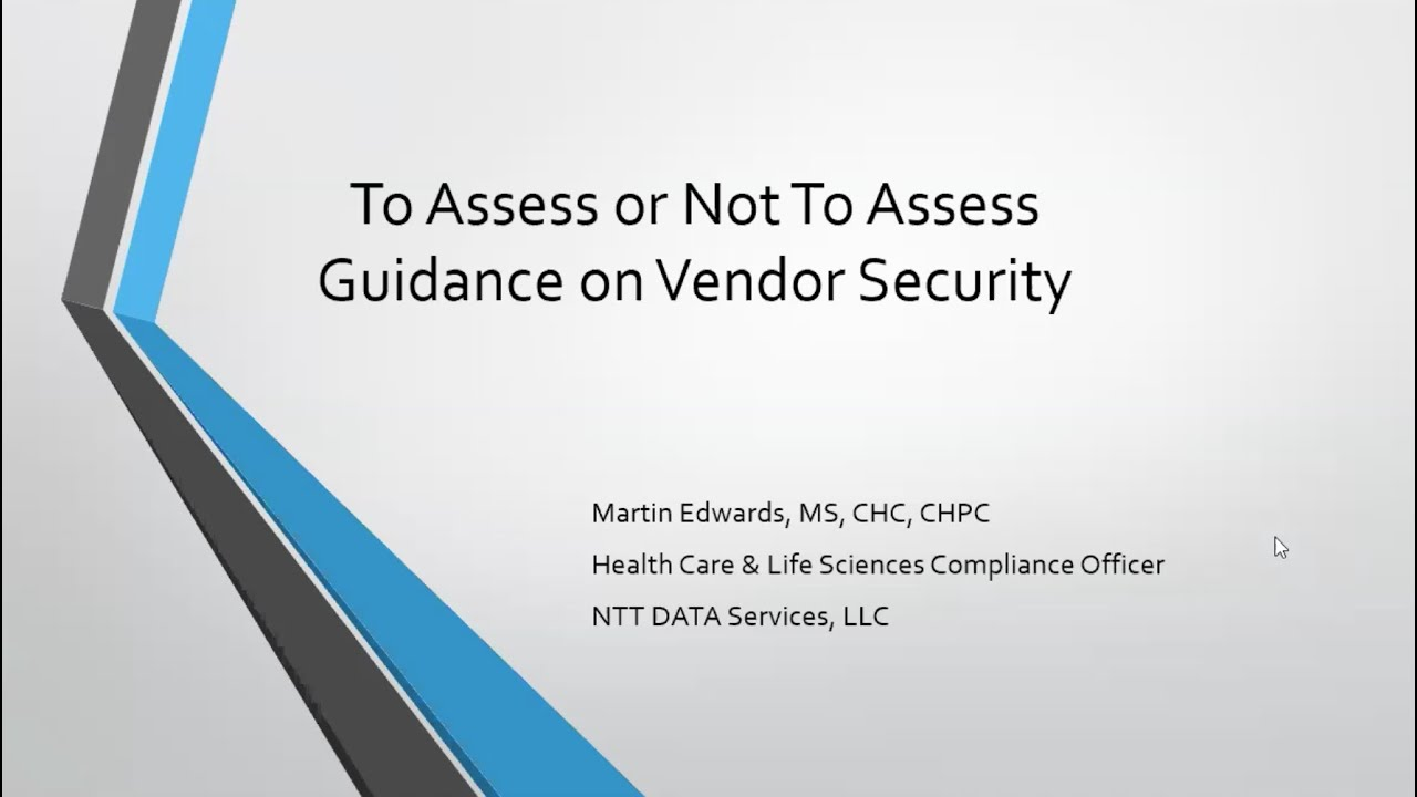 Guidance On the Vendor Security